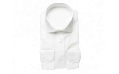 【三豊肌衣】ドレスシャツ ホワイト セミワイドSサイズ