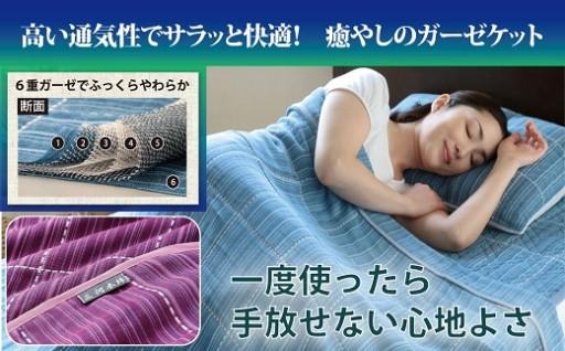 【G0054】【洗えば洗うほど気持ちいい!】三河木綿6重ガーゼケット