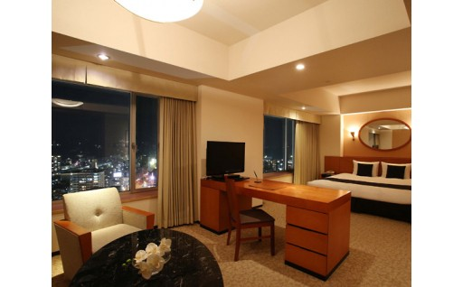 No.609 ホテル日航大分 オアシスタワー ジュニアスイート2名 1泊朝食付きプラン【150pt】