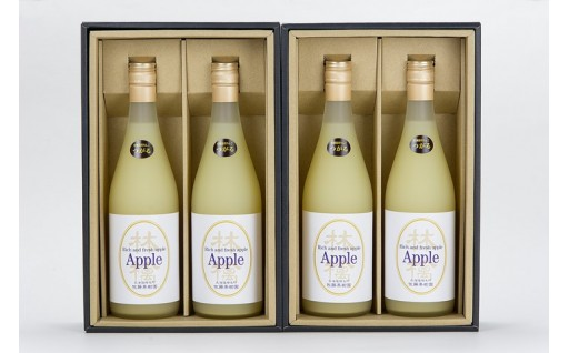 [A30-063]特別栽培りんごジュース【つがる】4本セット