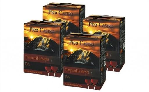 B305 スペイン産赤ワイン ピコカストロ バックインボックス3L×4