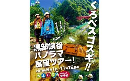 【B-7】 黒部峡谷パノラマ展望ツアー(ペア)