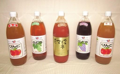 北海道仁木町おすすめジュース5種セット(JA新おたる)