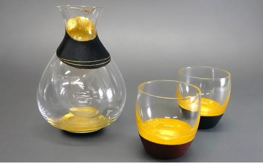 [№5550-0034]うるしの冷酒器&酒杯セット k-12-022