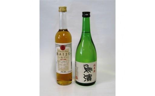 日本酒「鳥濱純米酒」、梅酒「BAIJO」セット(化粧箱入り)【1032704】