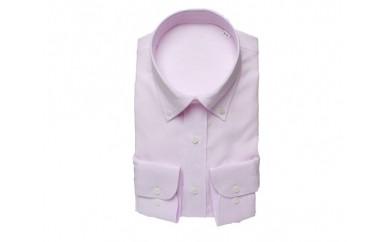 【三豊肌衣】ドレスシャツ ピンク ボタンダウンLLサイズ