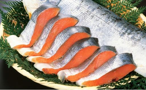 [№5525-0226]北海道産新巻鮭 切身 約3kg