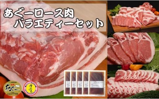 【N-102】 あぐーロース肉 バラエティーセット