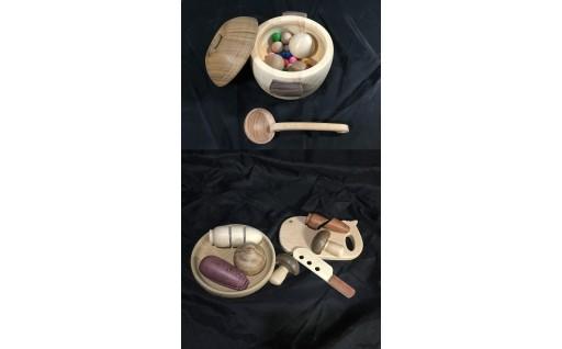 3-5 手作り木のおもちゃ「ままごと遊び」