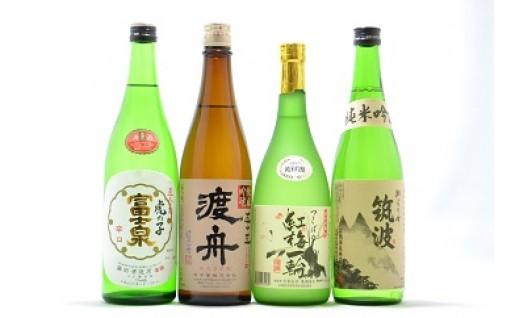 (392) 石岡地酒飲み比べセットH(日本酒)
