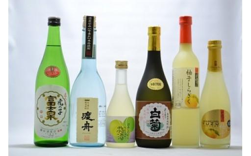 (394) 石岡地酒飲み比べセットJ(日本酒・焼酎・梅酒・リキュール)