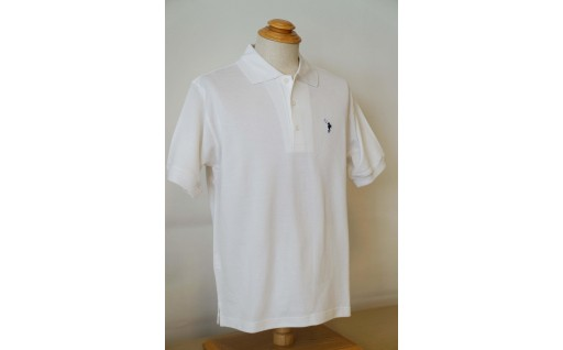 メンズ ポロシャツ半袖 かのこ白 Lサイズ