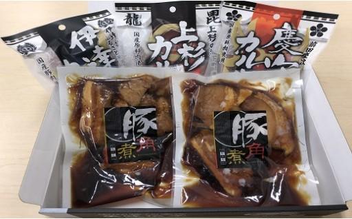 030-034 特製豚角煮と米沢ゆかりの武将カルパスセット