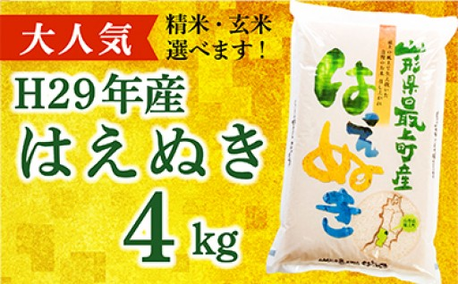 005-001【精米】山形県最上町産はえぬき4kg