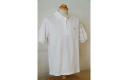メンズ ポロシャツ半袖 かのこ白 XLサイズ