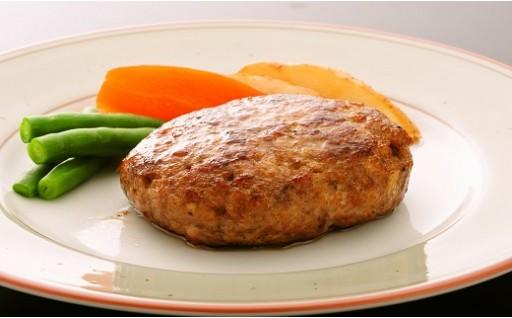 030-047 米沢牛+米澤豚一番育ちの黄金比率ハンバーグステーキ100g×10個入り