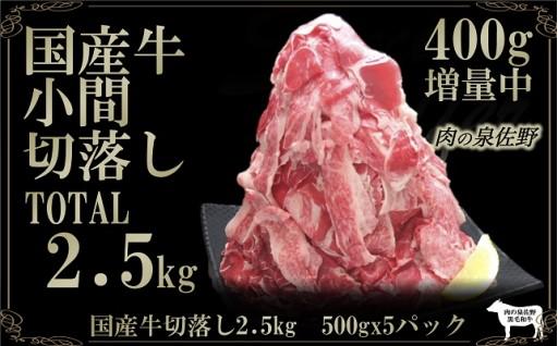 B600 国産牛小間切落し2.5㎏(500gx5p)