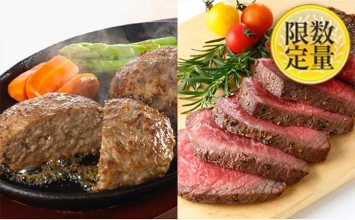 [№5805-2050]山形の「だし醤油」で食べる山形牛100%ハンバーグと山形牛ローストビーフ