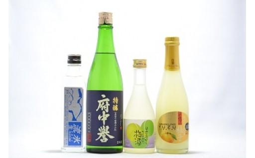 (386) 石岡地酒飲み比べセットB(日本酒・リキュール)