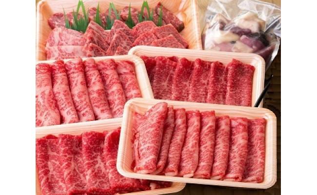 <2回目>鳥取和牛ロースすき焼き用スライス、鳥取和牛赤身すき焼き用スライス、鳥取和牛焼肉用、鳥取県産牛ホルモンミックス