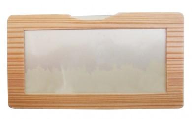 [№5665-0300]木のカードケース<道南杉S型>