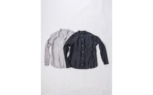 AK-1901 【墨染】手染めシルクコットン切替シャツ サイズ1 (TS17-W05-1-LG)