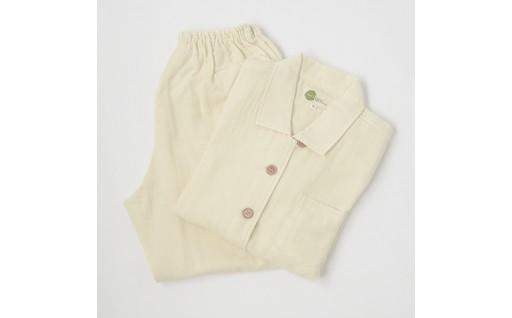 【オーガニックコットン100%】2重織りパジャマ 婦人L