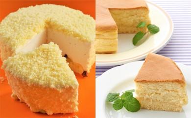 [№5890-0202]オホーツクチーズスフレとさろまレアチーズケーキのセット
