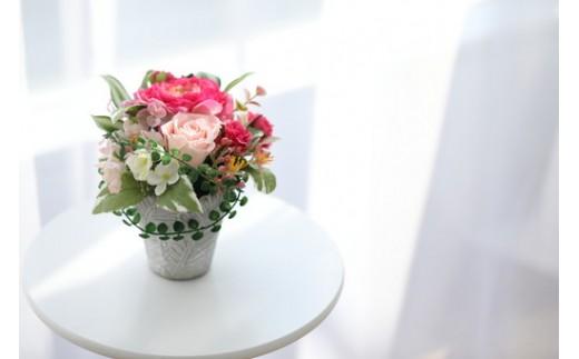 【空気をキレイにするお花】優しいラナンキュラス アートフラワー 光触媒