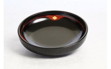 秀衡塗盛皿18cm金千代 黒