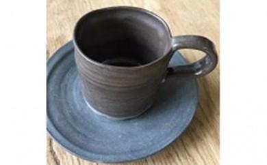 [№5524-0130]手作りペアカップ&ソーサー