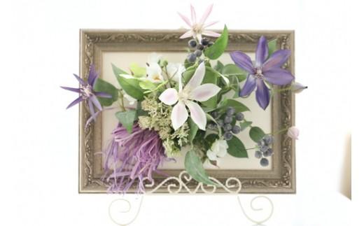 【空気をキレイにするお花】クレマチスの壁掛け フラワーアレンジメント