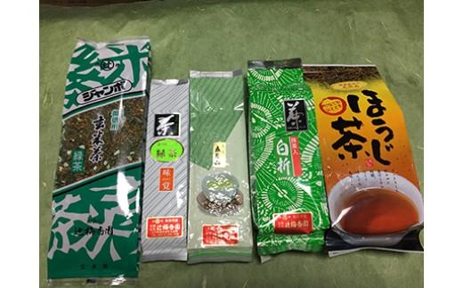 D-2 日本茶「お徳用大袋だよ」セット【辻梅香園】