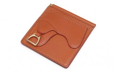 [№5665-0363]財布 鞍札ばさみ キャメル