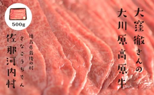 [№5852-0118]「幻の高原牛」大川原高原牛特選ローススライス500g※クレジット決済のみ