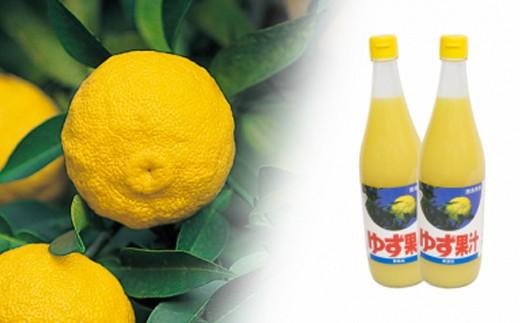 [№5852-0048]ゆず果汁 720ml 2本入