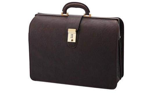 【156009】日本製牛革仕上げ鞄職人が作り上げたエディのダレスバッグ茶色