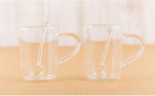 [3003808]西伊豆手づくりガラス「耐熱カップペアセット」
