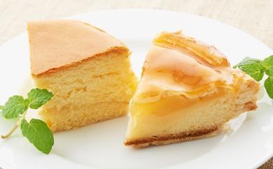 [№5890-0179]オホーツクチーズスフレとアップルパイのセット