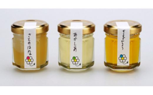 1-6 はぁもにぃpure honey(はちみつ)3種ミニボトルセット