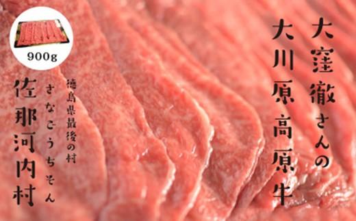[№5852-0119]「幻の高原牛」大川原高原牛特選ローススライス900g※クレジット決済のみ
