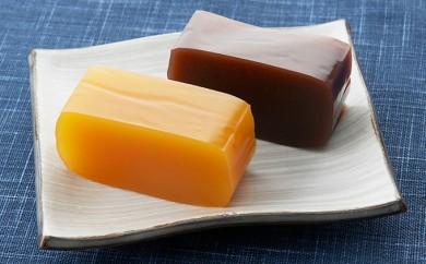 [№5890-0182]北海道産原使用 本練り羊羹・かぼちゃ羊羹 2本セット