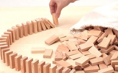 [№5665-0283]子どもから大人まで楽しめる!木製 ドミノ 250ピース