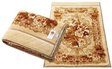 ぬくもりを包む ウール混わた入り2枚合せアクリルマイヤー毛布 日本製