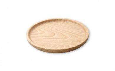 <限定>美しい木目の平盆(径22cm)