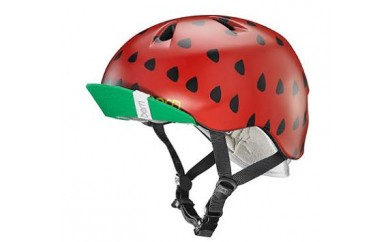 (XS-S2歳~4歳)BERNのジュニア、キッズ用ヘルメット GIRS RED