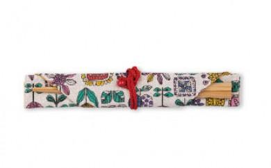 五角形箸(イチョウの木)愛のかけ箸