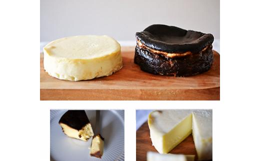 14-(16).まる弥カフェ白と黒のチーズケーキセット