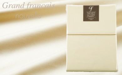 【シングルサイズ】日本製 羽毛布団を引き立てる やわらか超長綿掛け布団カバー カラー:サンド