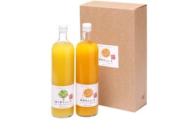和歌山みかんジュース2種類セット(750ml×2本入)果汁100%無添加ストレート